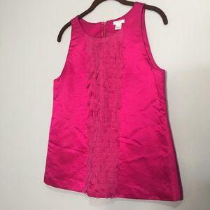 KATE SPADE Silk Pink Sleeveless Lined Petal Top 8